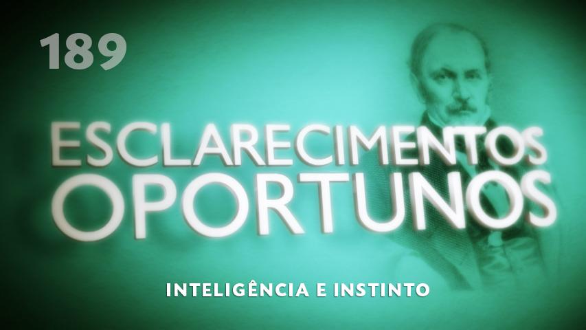 Esclarecimentos Oportunos 189 - Inteligência e Instinto