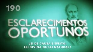 Esclarecimentos Oportunos 190 - Lei de causa e efeito: lei divina ou lei natural?