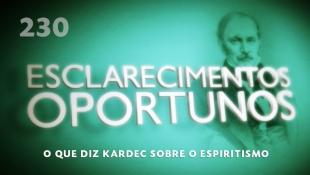Esclarecimentos Oportunos 230 - O que diz Kardec sobre o Espiritismo